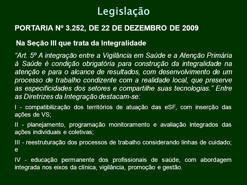 Legislação PORTARIA Nº 3.252, DE 22 DE DEZEMBRO DE 2009