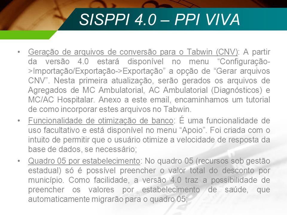 SISPPI 4.0 – PPI VIVA