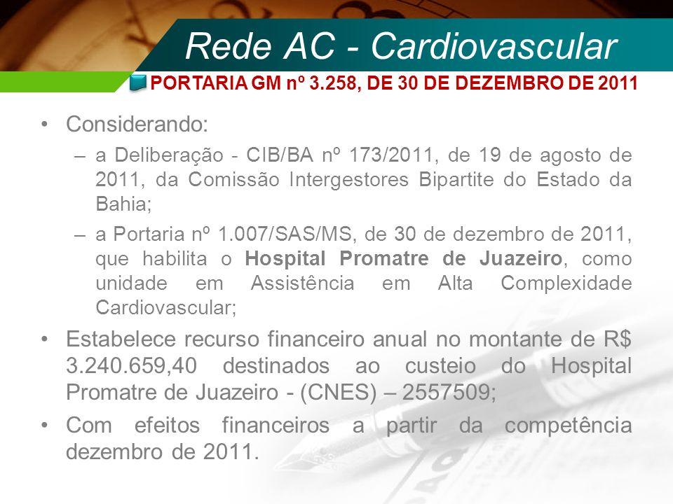 Rede AC - Cardiovascular