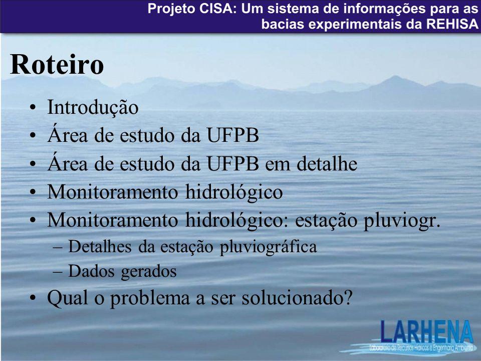Roteiro Introdução Área de estudo da UFPB
