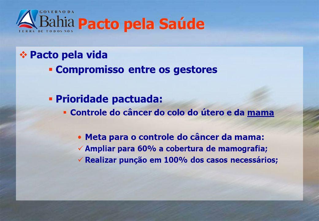 Pacto pela Saúde Pacto pela vida Compromisso entre os gestores