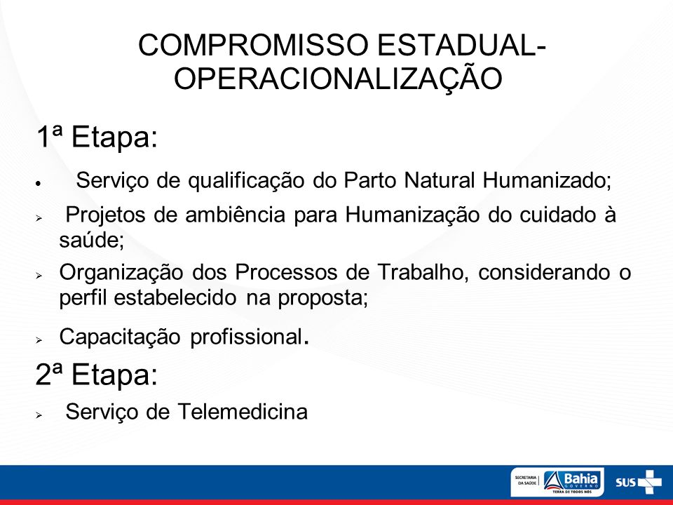 COMPROMISSO ESTADUAL- OPERACIONALIZAÇÃO