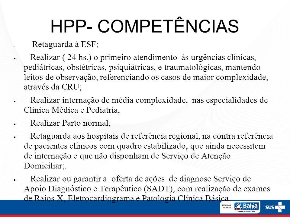 HPP- COMPETÊNCIAS Retaguarda à ESF;