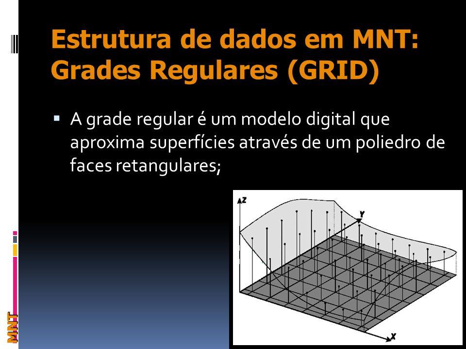 Estrutura de dados em MNT: Grades Regulares (GRID)