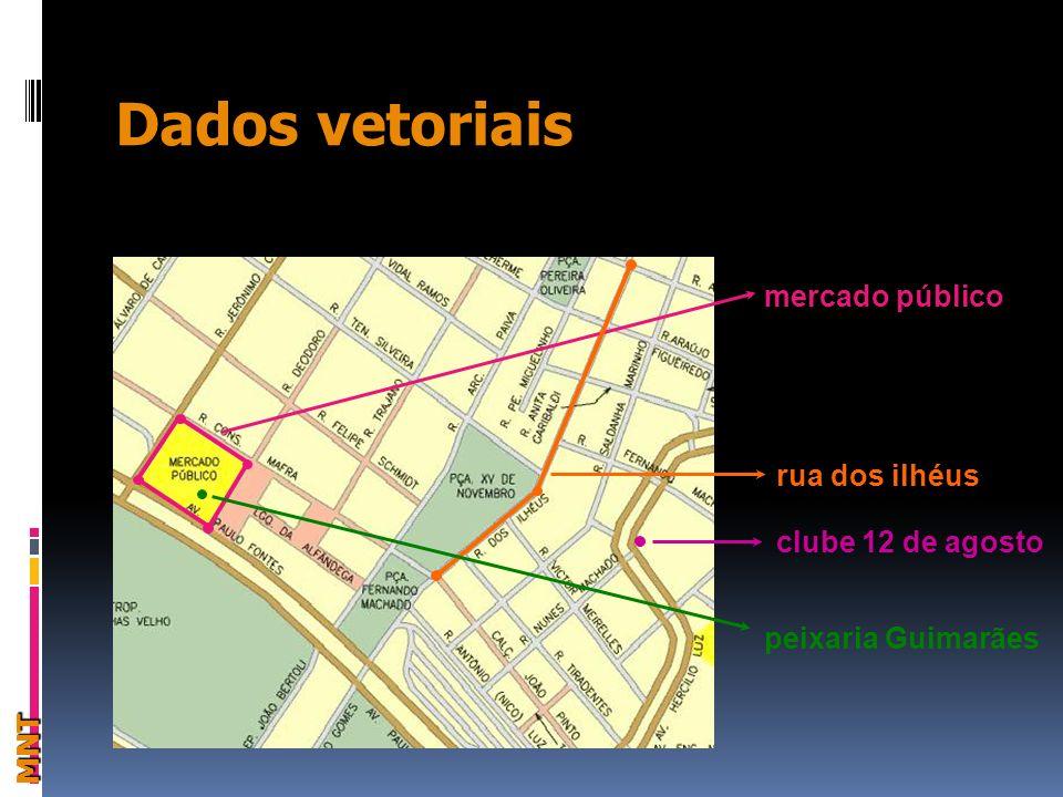 Dados vetoriais MNT mercado público rua dos ilhéus clube 12 de agosto