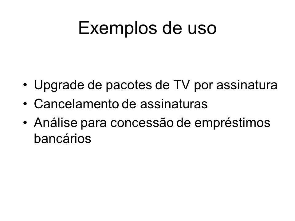 Exemplos de uso Upgrade de pacotes de TV por assinatura