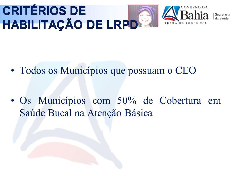 CRITÉRIOS DE HABILITAÇÃO DE LRPD
