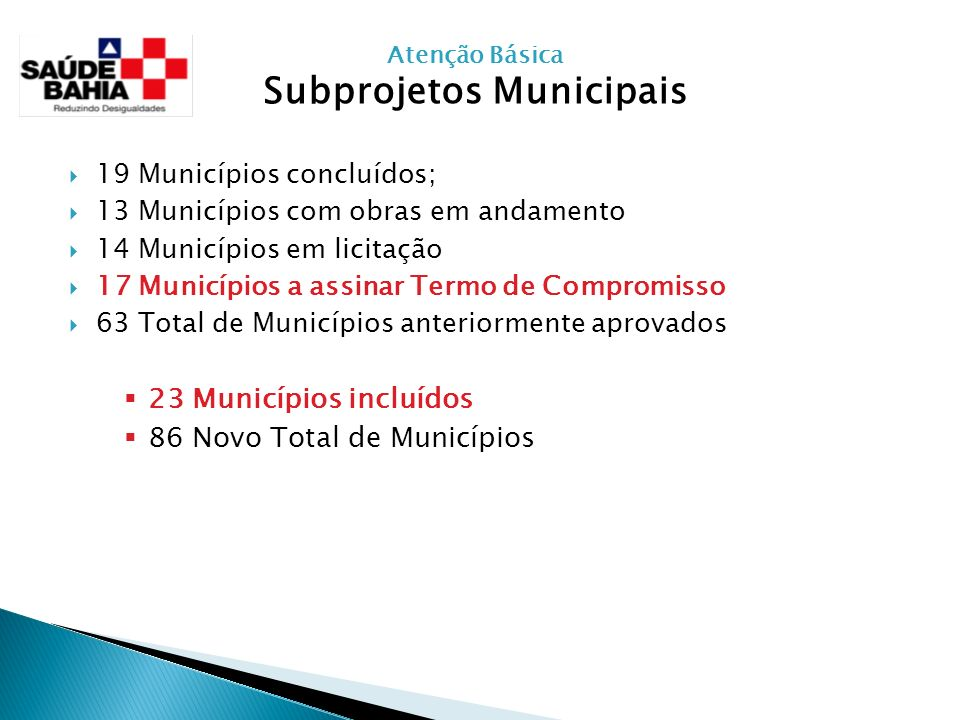 Subprojetos Municipais