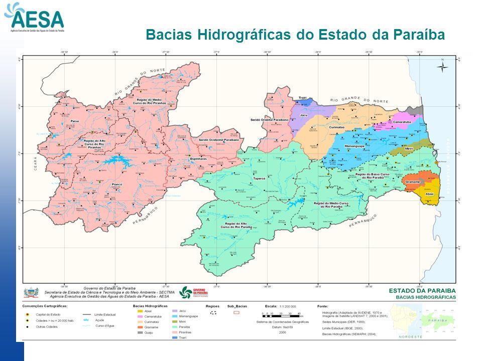 Bacias Hidrográficas do Estado da Paraíba