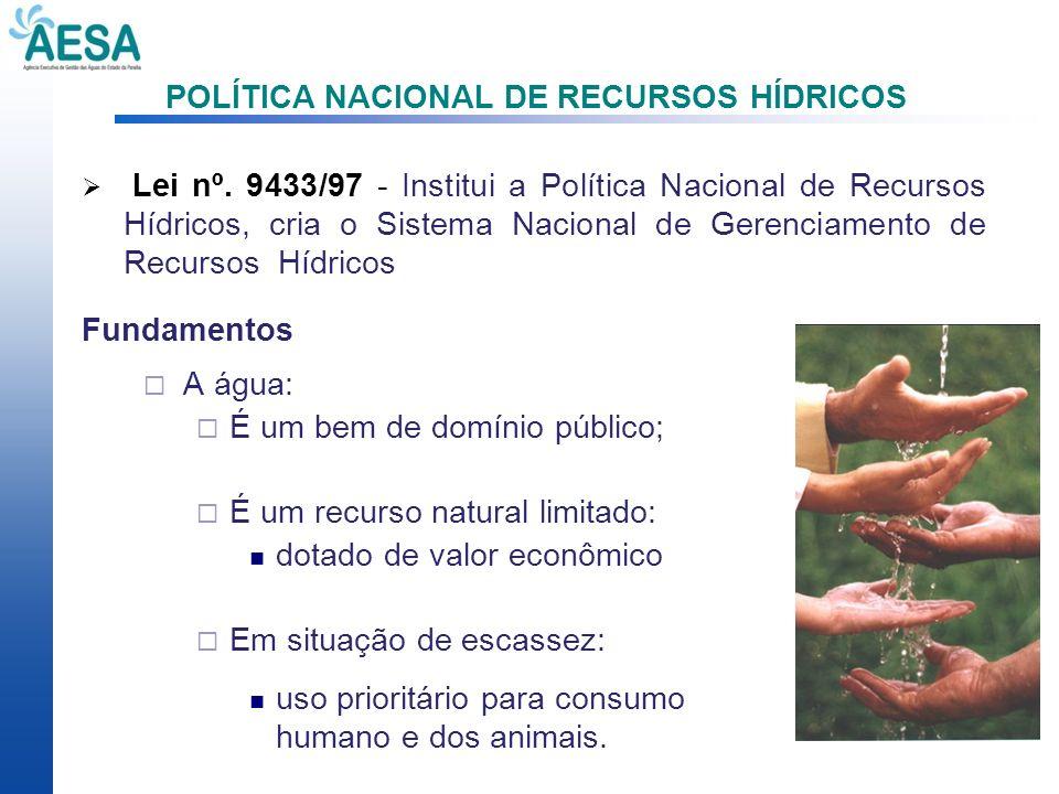 POLÍTICA NACIONAL DE RECURSOS HÍDRICOS