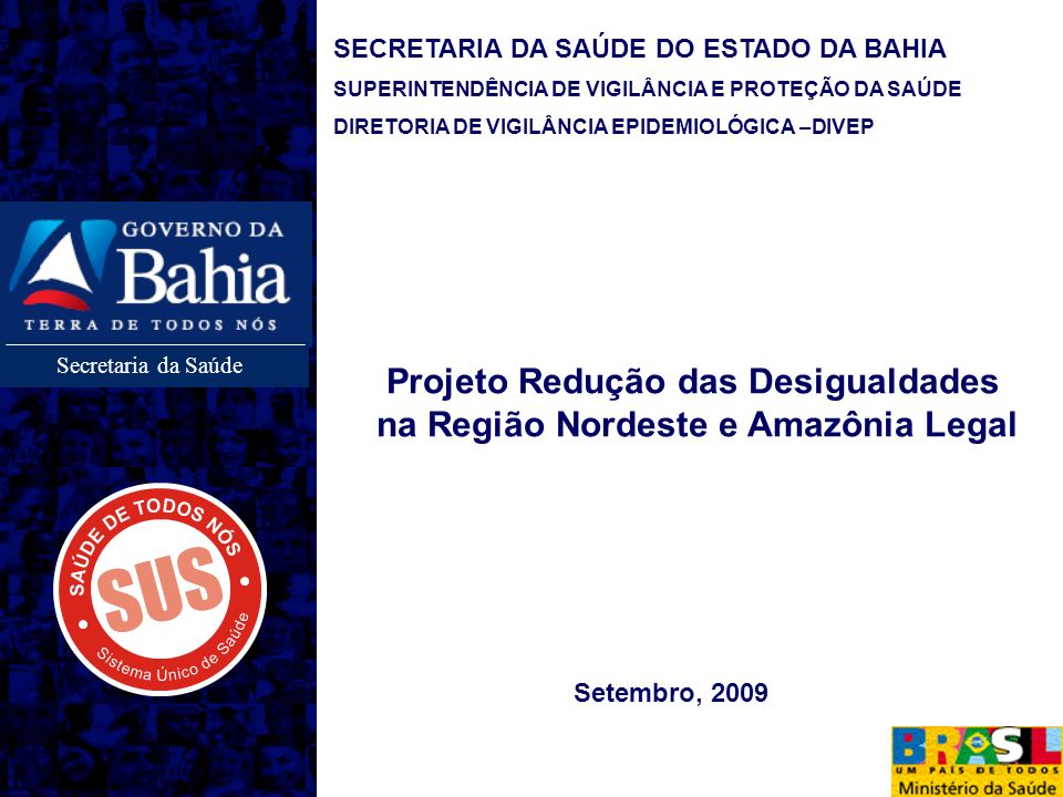 Projeto Redução das Desigualdades na Região Nordeste e Amazônia Legal