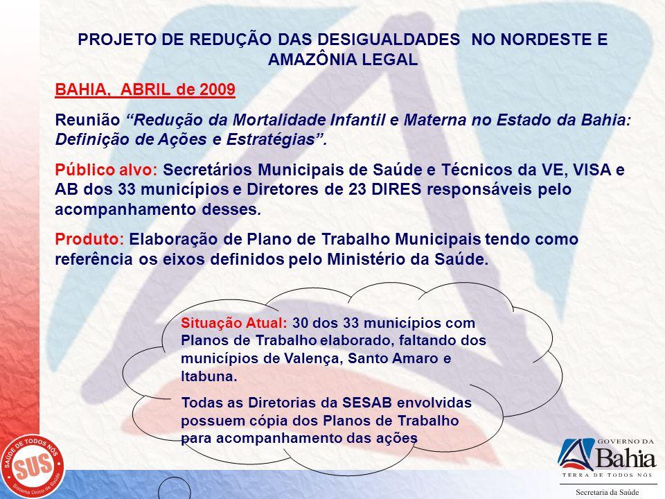 PROJETO DE REDUÇÃO DAS DESIGUALDADES NO NORDESTE E AMAZÔNIA LEGAL