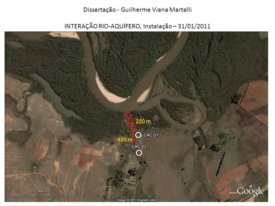Dissertação - Guilherme Viana Martelli INTERAÇÃO RIO-AQUÍFERO, Instalação – 31/01/2011