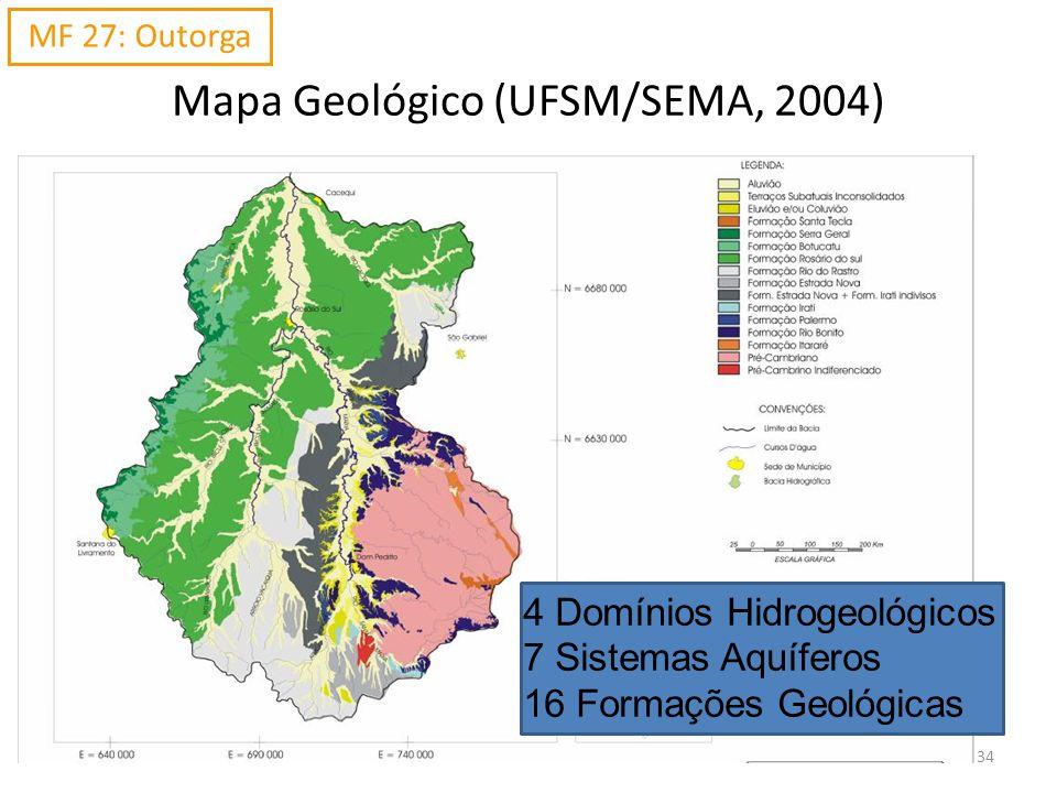 Mapa Geológico (UFSM/SEMA, 2004)