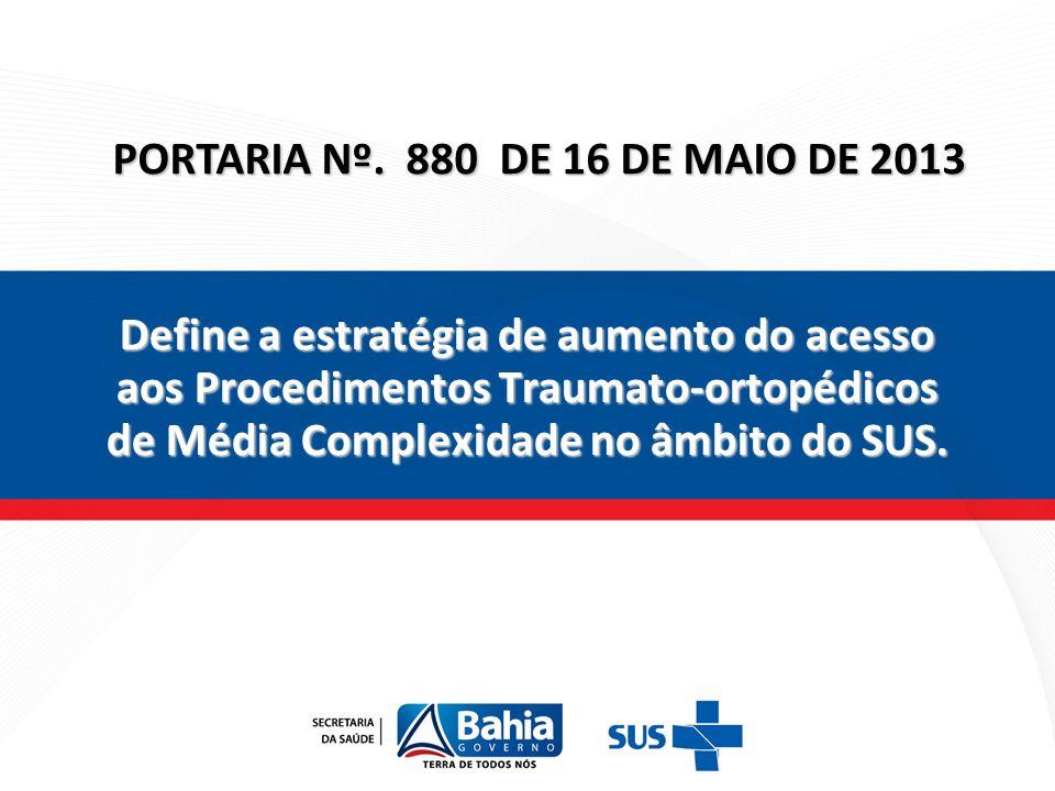 PORTARIA Nº. 880 DE 16 DE MAIO DE 2013