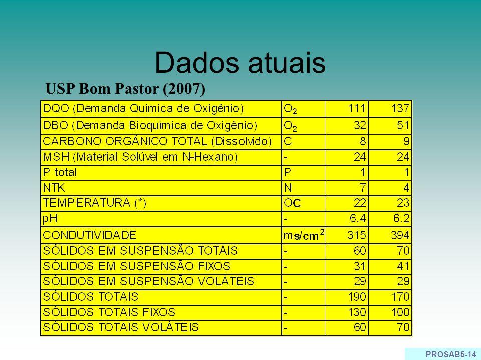 Dados atuais USP Bom Pastor (2007)