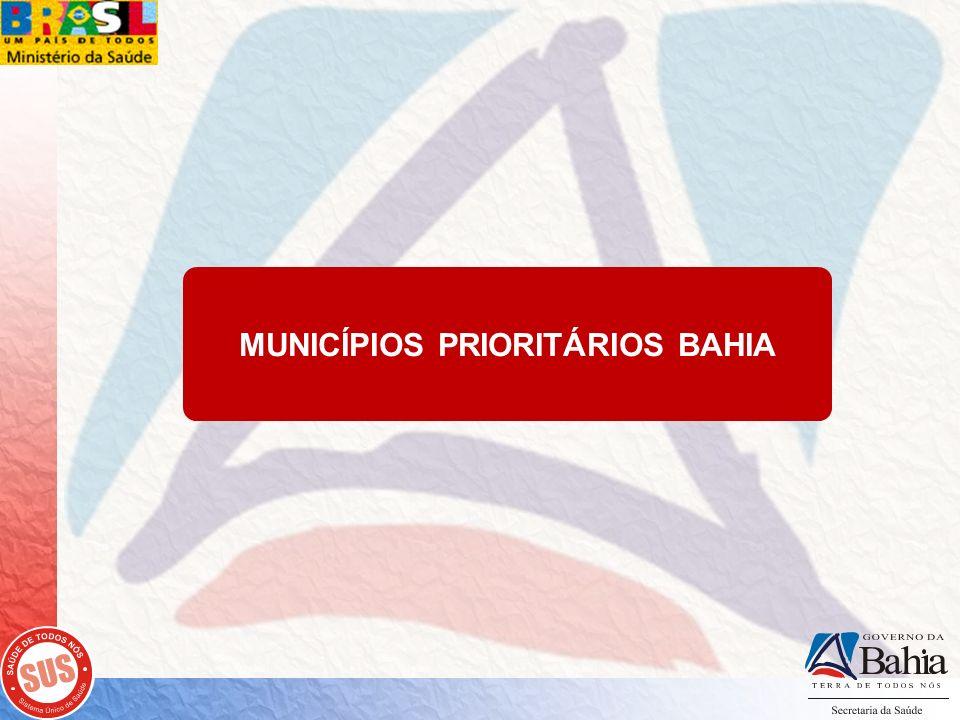 MUNICÍPIOS PRIORITÁRIOS BAHIA