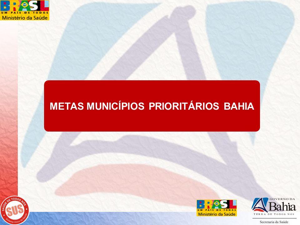METAS MUNICÍPIOS PRIORITÁRIOS BAHIA