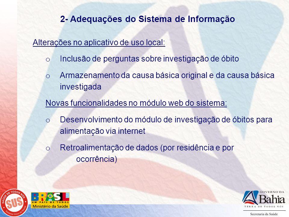 2- Adequações do Sistema de Informação