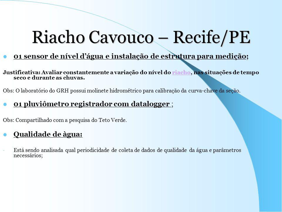 Riacho Cavouco – Recife/PE