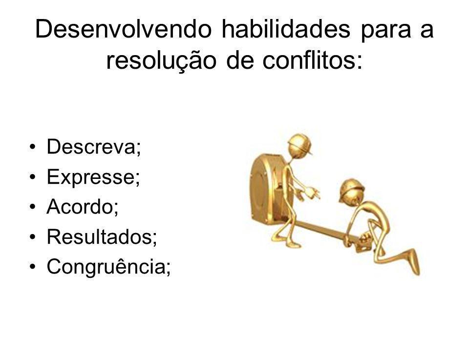 Desenvolvendo habilidades para a resolução de conflitos: