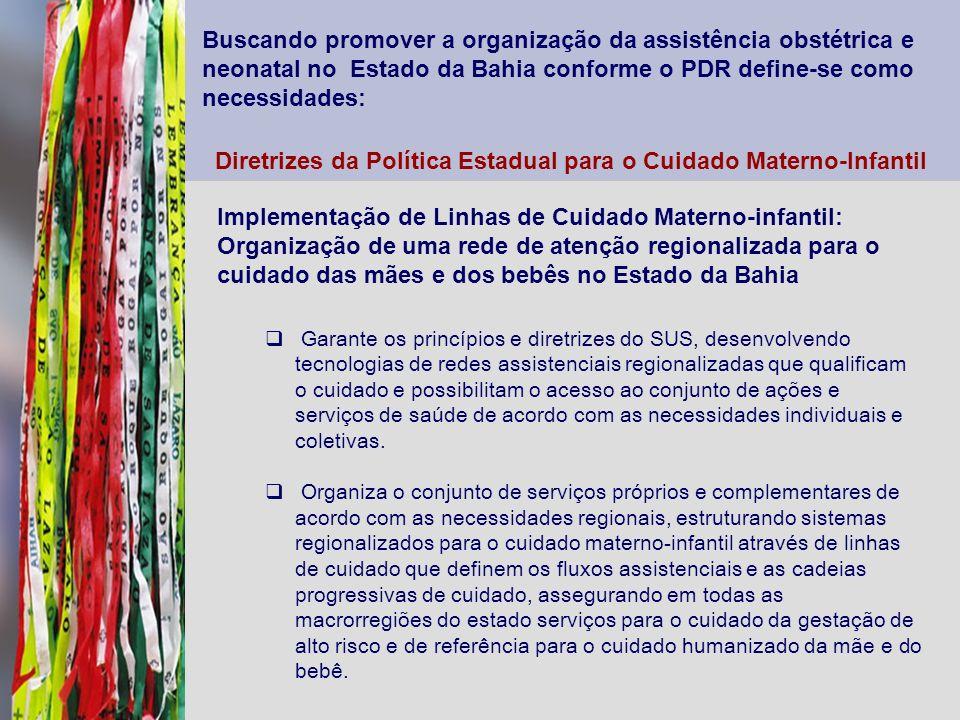 Diretrizes da Política Estadual para o Cuidado Materno-Infantil