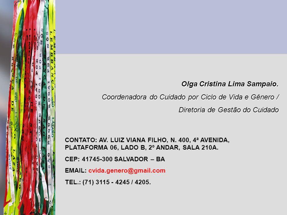 Olga Cristina Lima Sampaio.