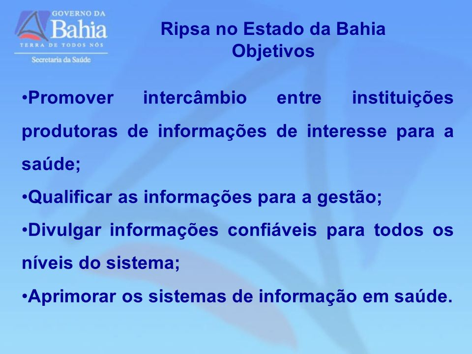 Ripsa no Estado da Bahia