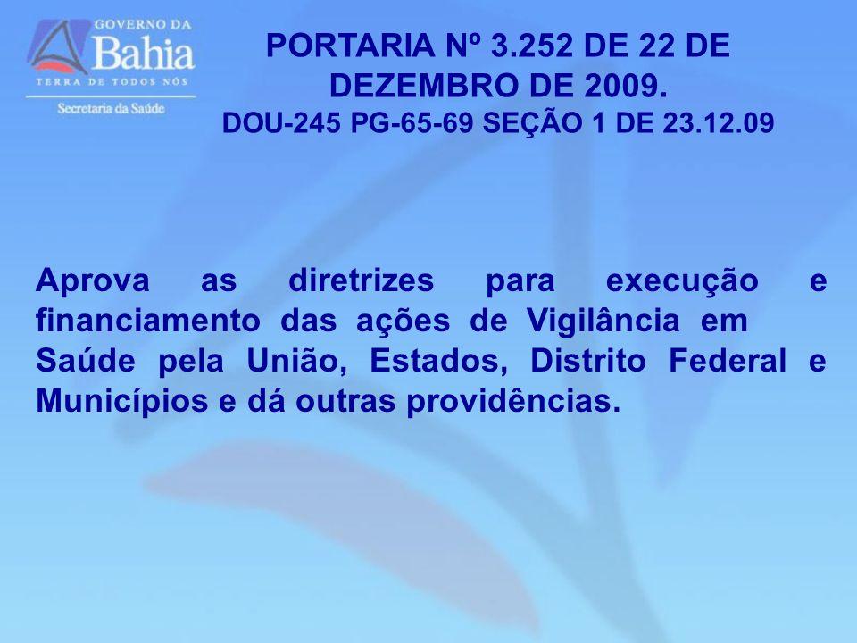 PORTARIA Nº 3.252 DE 22 DE DEZEMBRO DE 2009.