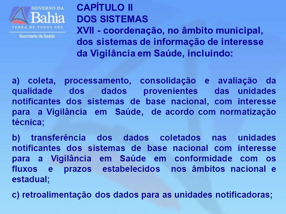 CAPÍTULO II DOS SISTEMAS