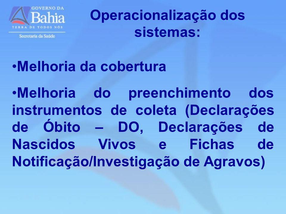 Operacionalização dos sistemas: