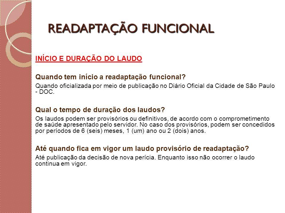 READAPTAÇÃO FUNCIONAL