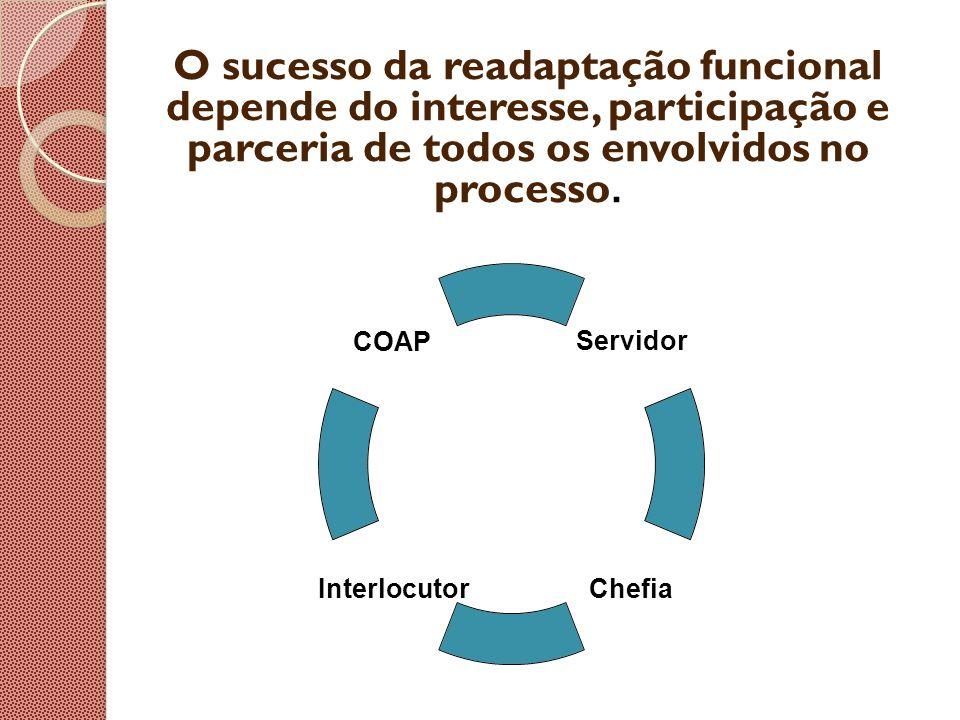 O sucesso da readaptação funcional depende do interesse, participação e parceria de todos os envolvidos no processo.