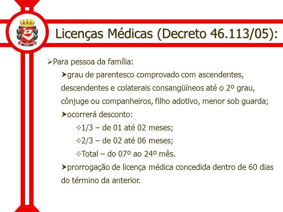 Licenças Médicas (Decreto 46.113/05):