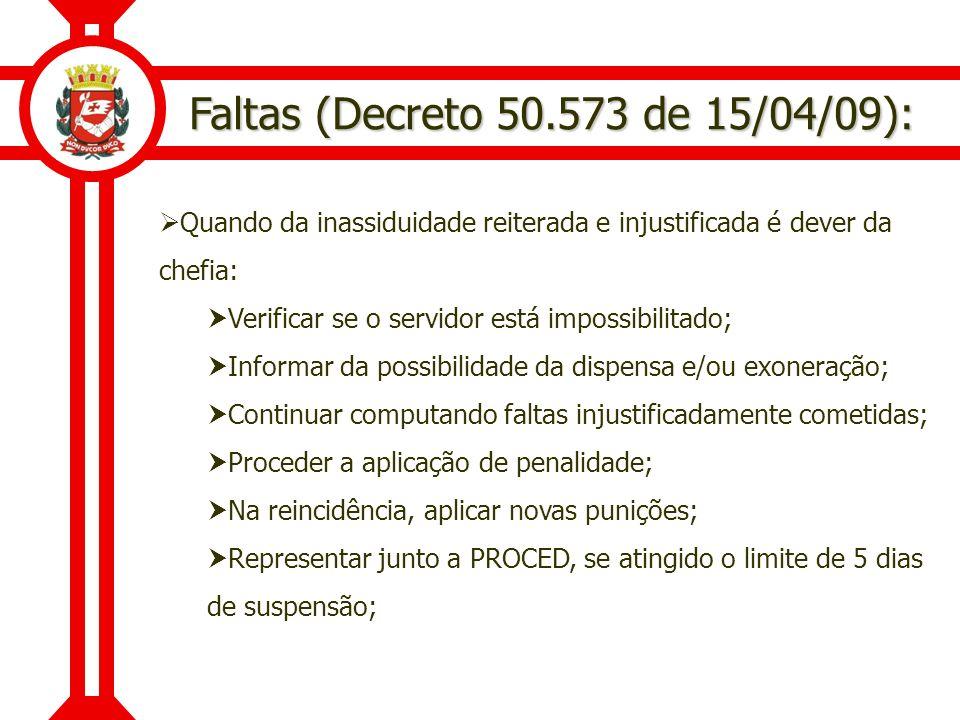 Faltas (Decreto 50.573 de 15/04/09):