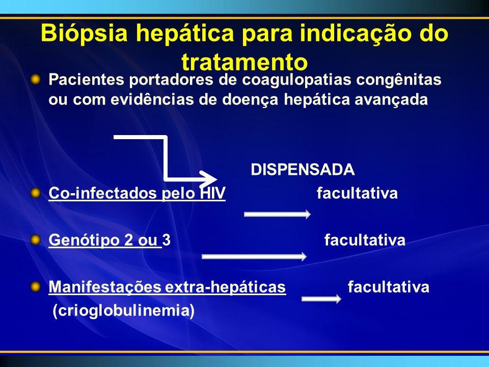 Biópsia hepática para indicação do tratamento