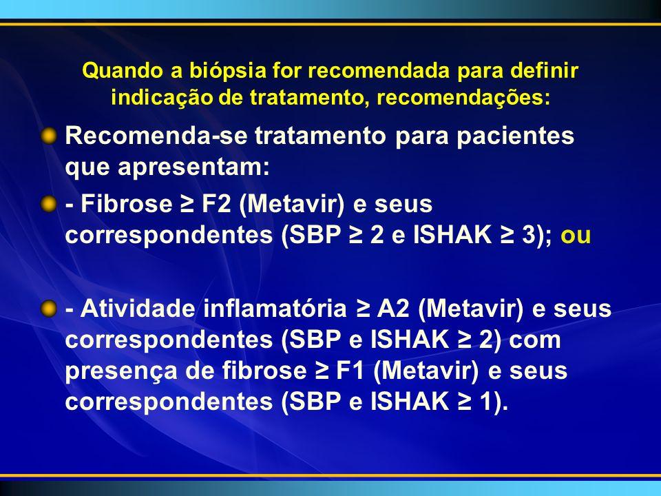 Recomenda-se tratamento para pacientes que apresentam:
