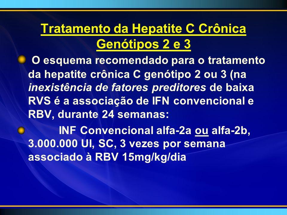 Tratamento da Hepatite C Crônica Genótipos 2 e 3