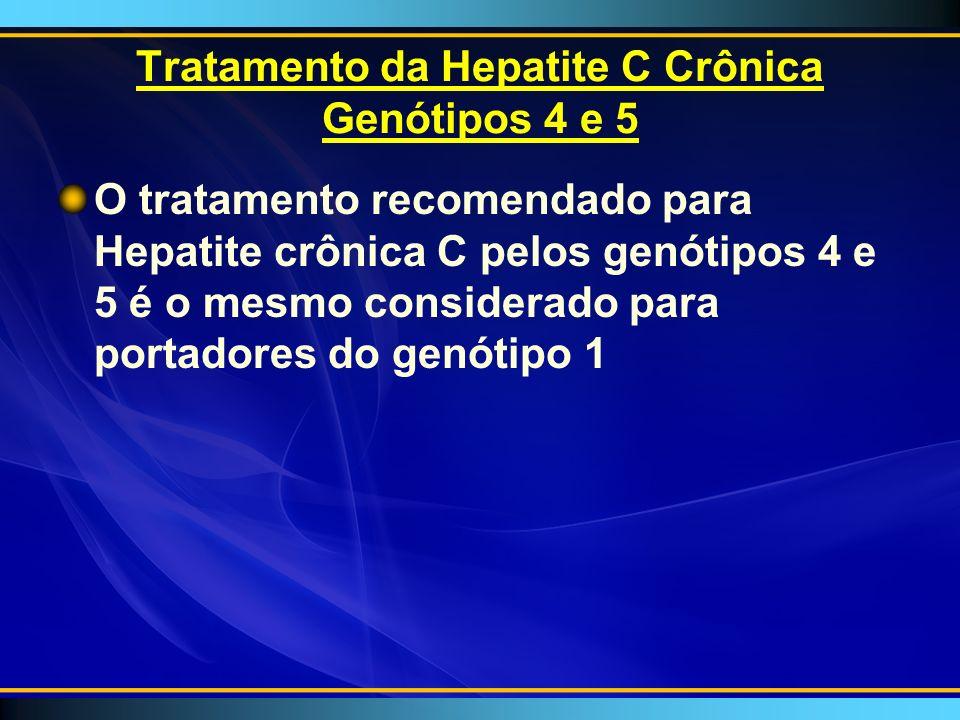 Tratamento da Hepatite C Crônica Genótipos 4 e 5