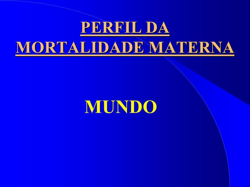 PERFIL DA MORTALIDADE MATERNA