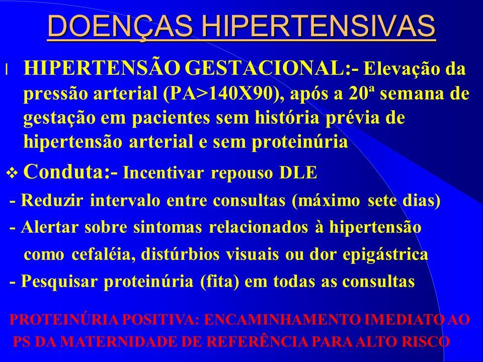 DOENÇAS HIPERTENSIVAS