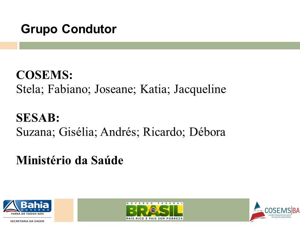 Stela; Fabiano; Joseane; Katia; Jacqueline SESAB: