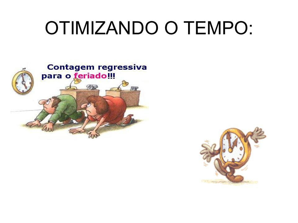 OTIMIZANDO O TEMPO: