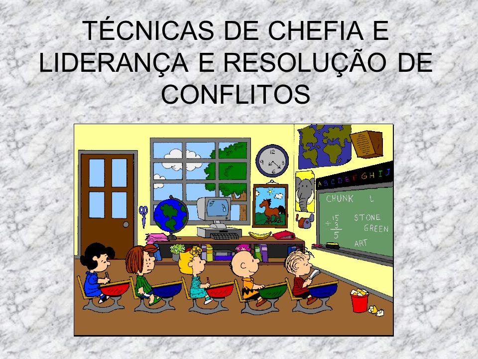 TÉCNICAS DE CHEFIA E LIDERANÇA E RESOLUÇÃO DE CONFLITOS
