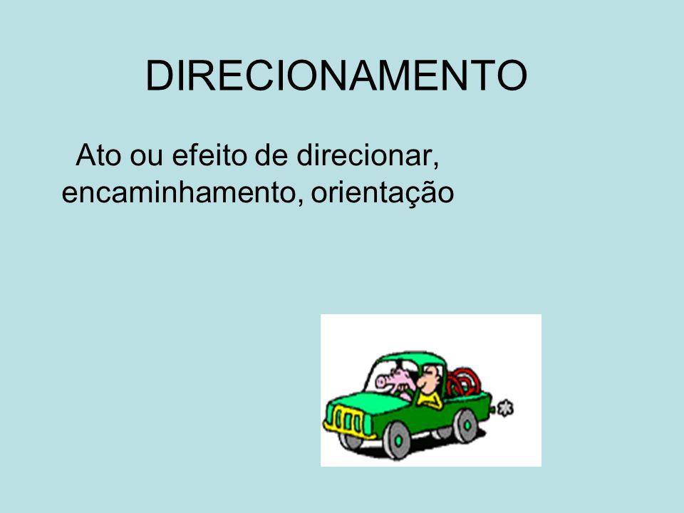 Ato ou efeito de direcionar, encaminhamento, orientação