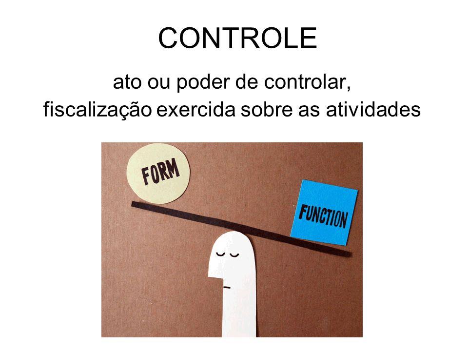 ato ou poder de controlar, fiscalização exercida sobre as atividades