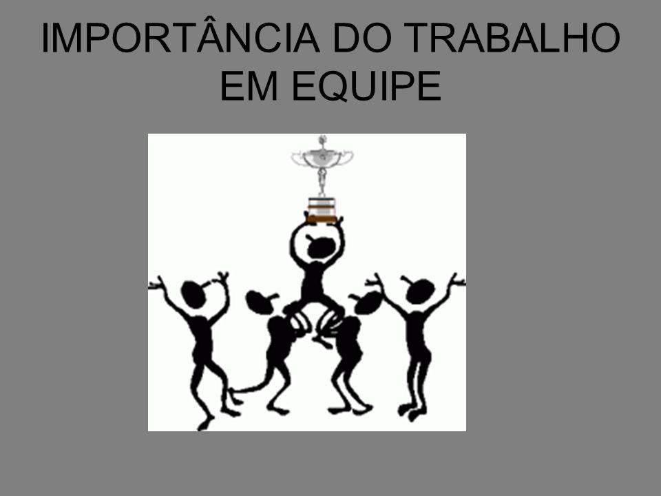 IMPORTÂNCIA DO TRABALHO EM EQUIPE