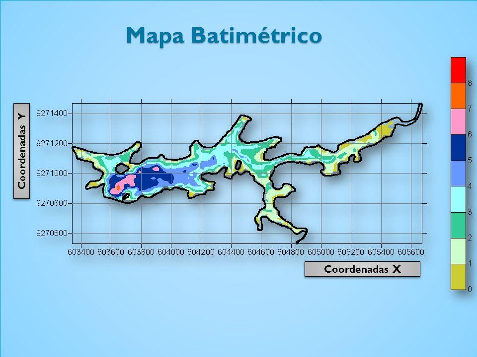 Mapa Batimétrico Coordenadas Y Coordenadas X