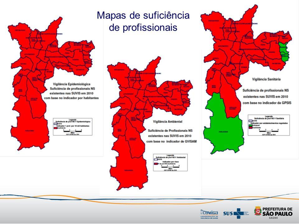 Mapas de suficiência de profissionais