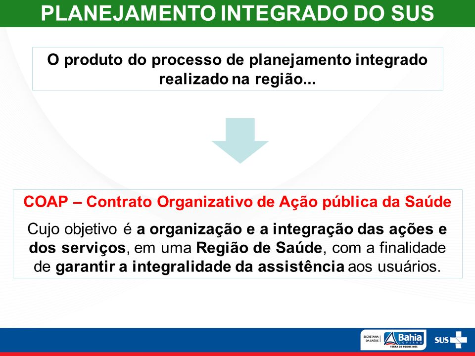 5 PLANEJAMENTO INTEGRADO DO SUS